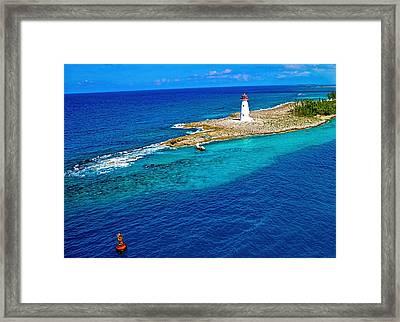 Arriving In The Bahamas Framed Print by Pamela Blizzard