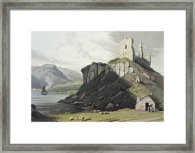 Arros Castle, Isle Of Mull Framed Print by William Daniell
