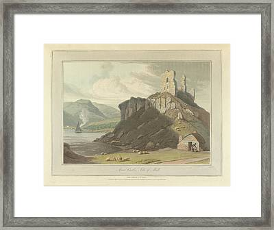 Arros Castle On The Isle Of Mull Framed Print by British Library
