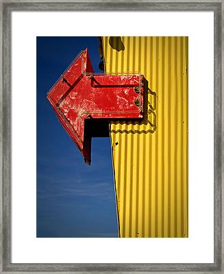 Framed Print featuring the photograph Arrow by Bud Simpson