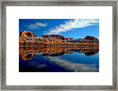 Arrow In The Green Framed Print by Adam Jewell