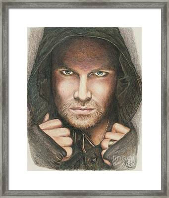 Arrow / Stephen Amell Muted Framed Print