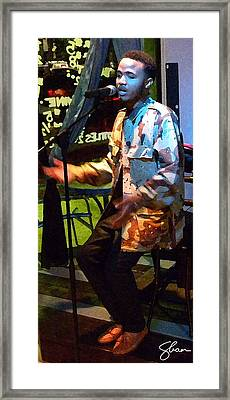 Arrow The Poet At Gigi's Music Cafee Framed Print by Shawn Lyte