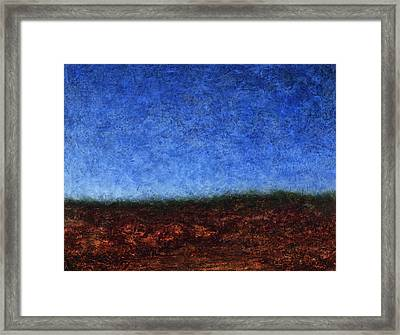 Arroyo Rojo Framed Print by James W Johnson