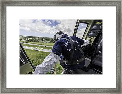 Ars Arrival At The Scene Framed Print by Scott Mullin