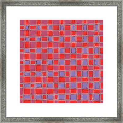 Art 1906 Elegant Graphic Pattern Squares Colorful Digitalart Graphicart Surface Texture Design Multi Framed Print