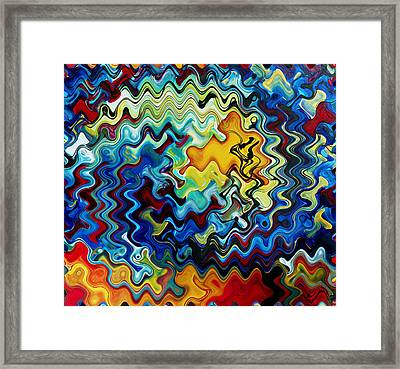 Art Abstract Vibrant Colorful Background 1 Framed Print by Lanjee Chee
