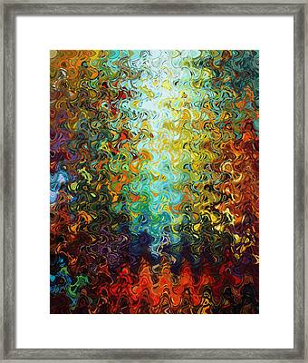 Art Abstract Vibrant Colorful Background 5 Framed Print by Lanjee Chee