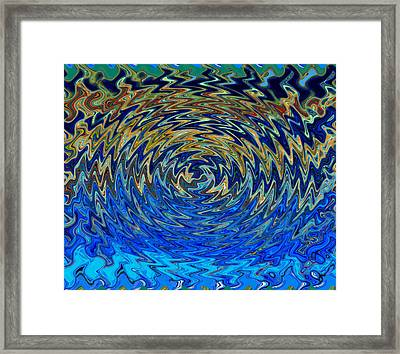 Art Abstract Vibrant Colorful Background With Waved Spiral Framed Print by Lanjee Chee