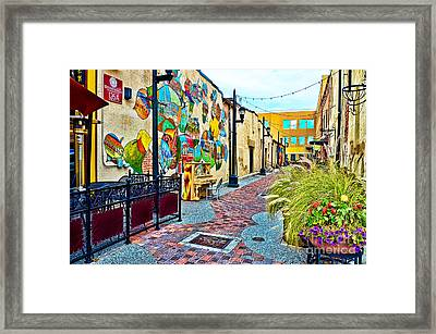 Art Alley Framed Print by Keith Ducker