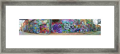 Art Alley Panorama Framed Print