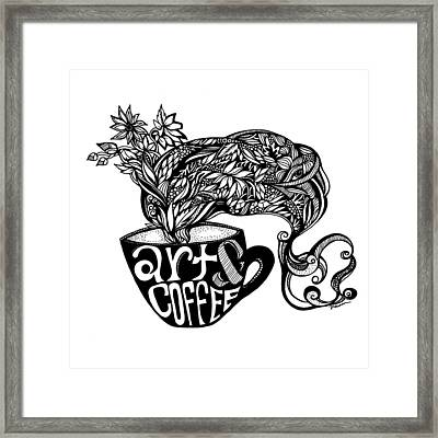 Art And Coffee Framed Print