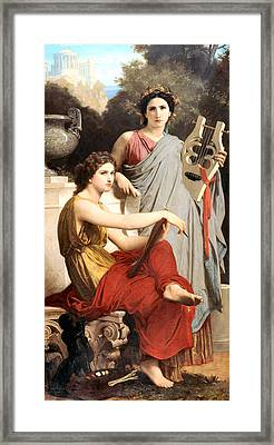 Art And Literature Framed Print by William Bouguereau