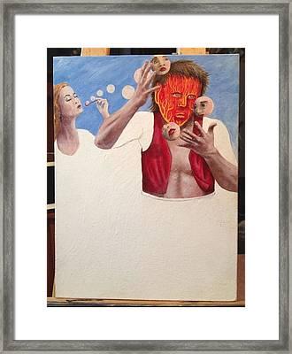 Art Collaboration Framed Print by Steve  Hester