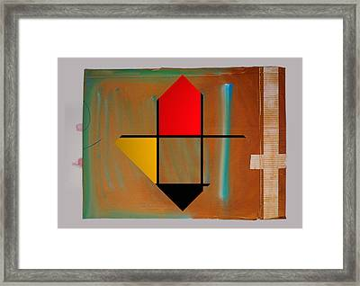 Art Collage Nude Framed Print by Charles Stuart