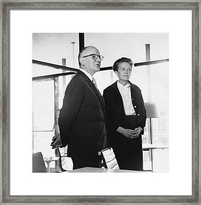 Art Collectors John And Dominique De Menil Framed Print by Horst P. Horst