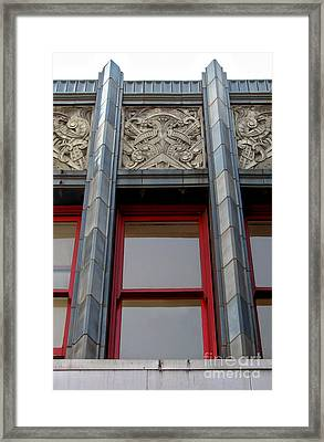 Art Deco Architectural Detail Framed Print by Gregory Dyer