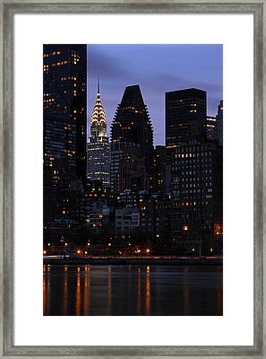 Art Deco Architecture - Chrysler Building  Framed Print by Juergen Roth
