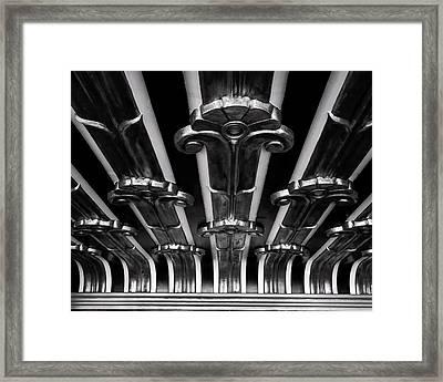 Art Deco At The Henry Fonda Bw Framed Print