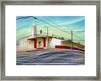 Art Deco Building - Pomona Ca Framed Print
