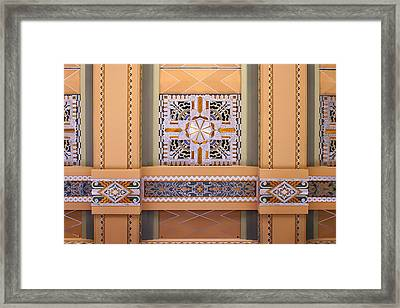 Art Deco Ceiling Decoration Framed Print