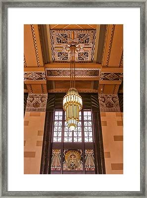 Art Deco Chandelier Framed Print by Nikolyn McDonald