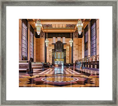 Art Deco Great Hall #1 Framed Print by Nikolyn McDonald
