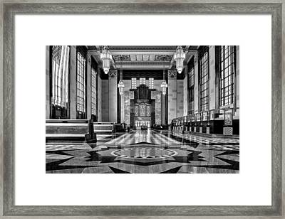 Art Deco Great Hall #2 - Bw Framed Print