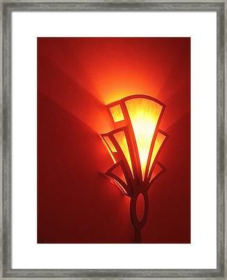 Framed Print featuring the photograph Art Deco Light Fox Tucson Arizona  Theater  2006 by David Lee Guss