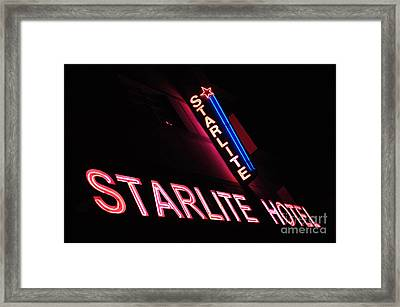 Starlite Hotel Art Deco District Miami 3 Framed Print by Bob Christopher