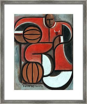 Art Deco Michael Jordan Art Print Framed Print by Tommervik