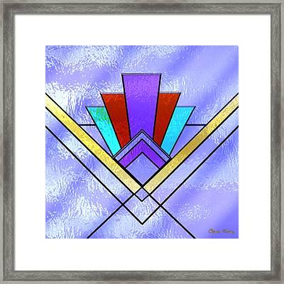 Art Deco - Pattern 3 - Chuck Staley Framed Print by Chuck Staley