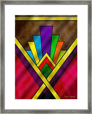 Art Deco Pattern 7v Framed Print