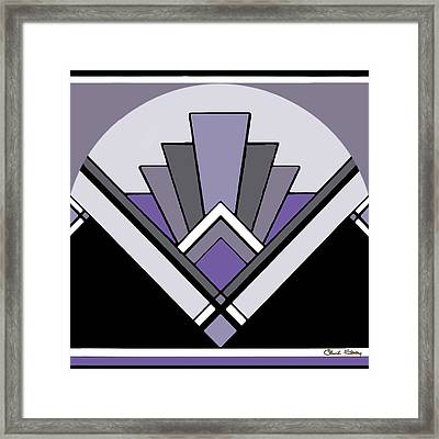 Art Deco Pattern Two - Purple Framed Print
