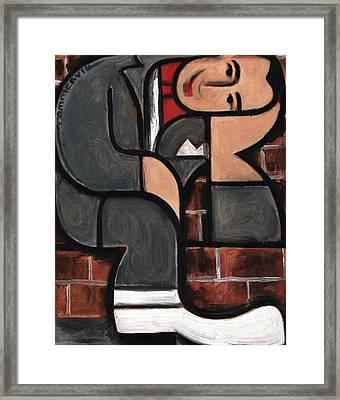 Art Deco Pee Wee Herman Art Print Framed Print by Tommervik