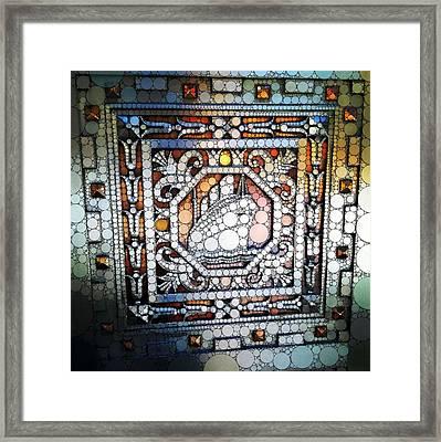 Art Deco Percolated Framed Print by Natasha Marco