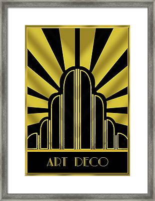 Art Deco Poster - Title Framed Print by Chuck Staley