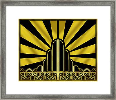 Art Deco Poster - Two Framed Print