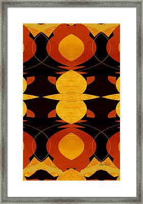 Art Deco Two - Abstract Art Framed Print by Ann Powell