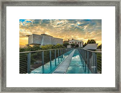 Art District Bridge Framed Print