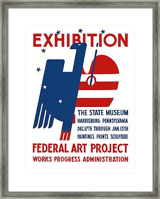 Art Exhibition The State Museum Harrisburg Pennsylvania Framed Print by War Is Hell Store