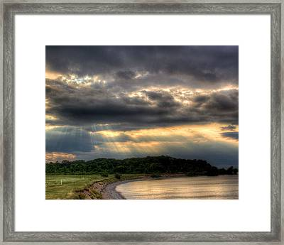 Art For Crohn's Lake Ontario Sun Beams Framed Print by Tim Buisman