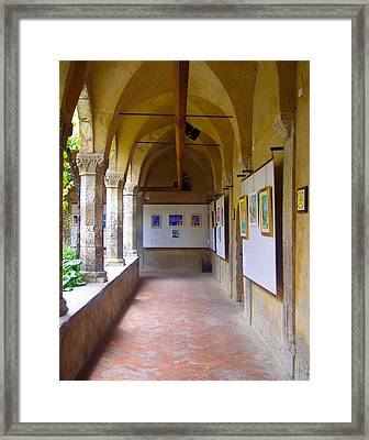 Art Gallery In A Monastery Framed Print
