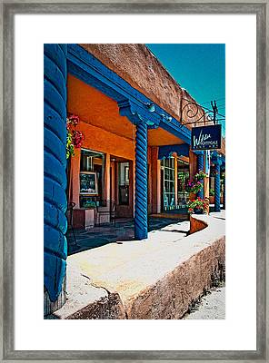 Art Gallery In Taos Framed Print by Charles Muhle
