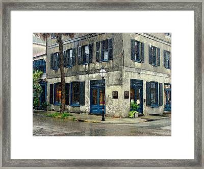 Framed Print featuring the photograph Art Gallery In The Rain by Rodney Lee Williams
