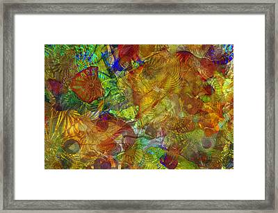 Art Glass Overlay Framed Print