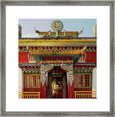 Art In A Buddhist Monastery, Sikkim Framed Print by Jaina Mishra