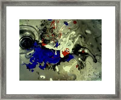 Art In A Sink Framed Print by Kelly Awad