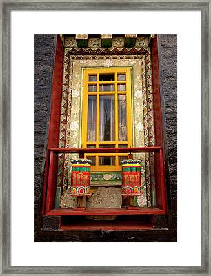 Art In Buddhist Monastery Architecture Framed Print