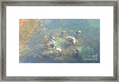 Art In Sea Framed Print